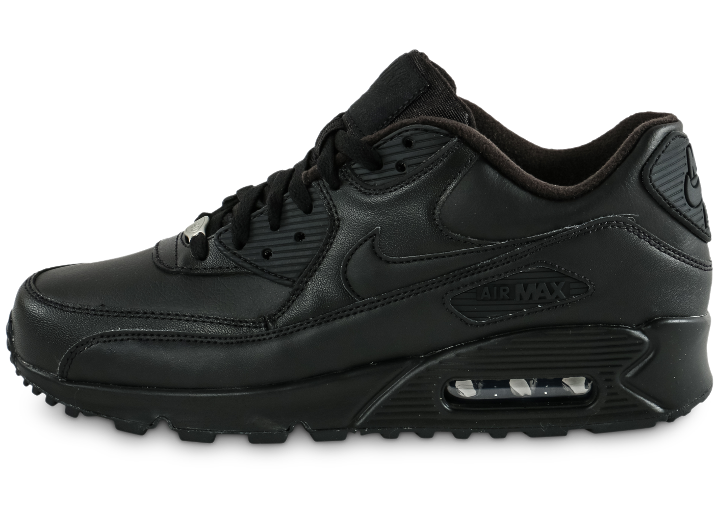 huge selection of 71752 eae5a Nike homme air max 90 leather noire baskets
