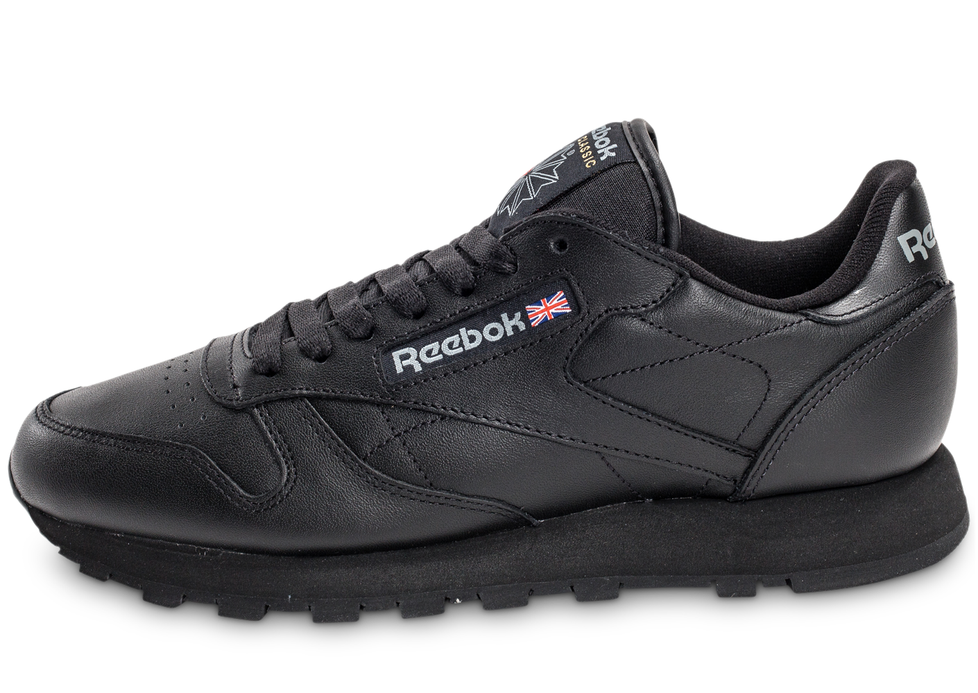 Reebok Homme Classic Leather Triple Black Rétro-Running