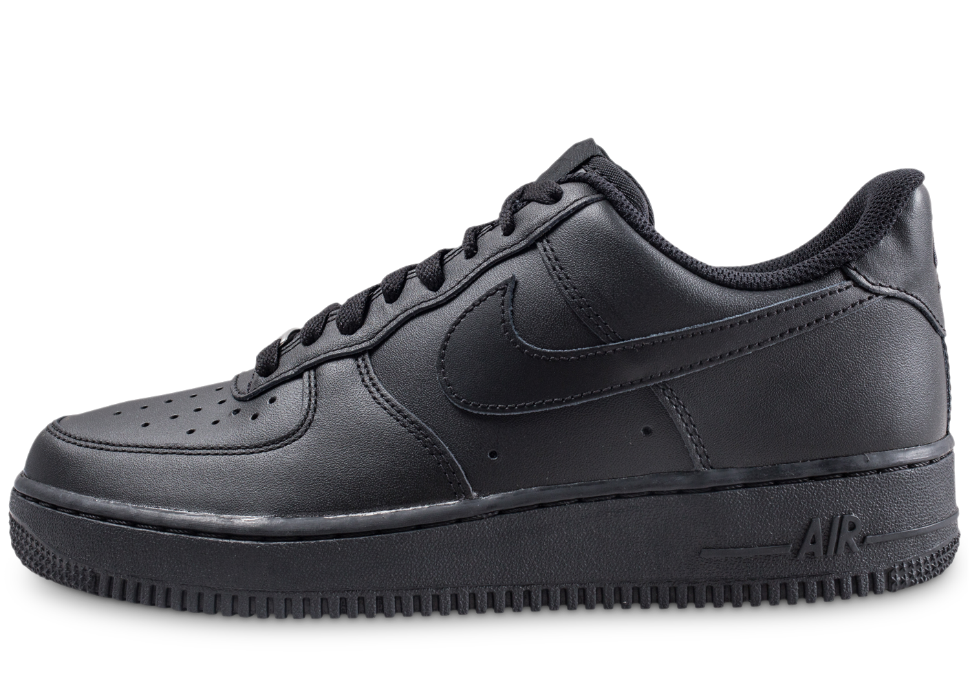 Nike Homme Air Force 1 Noire Baskets
