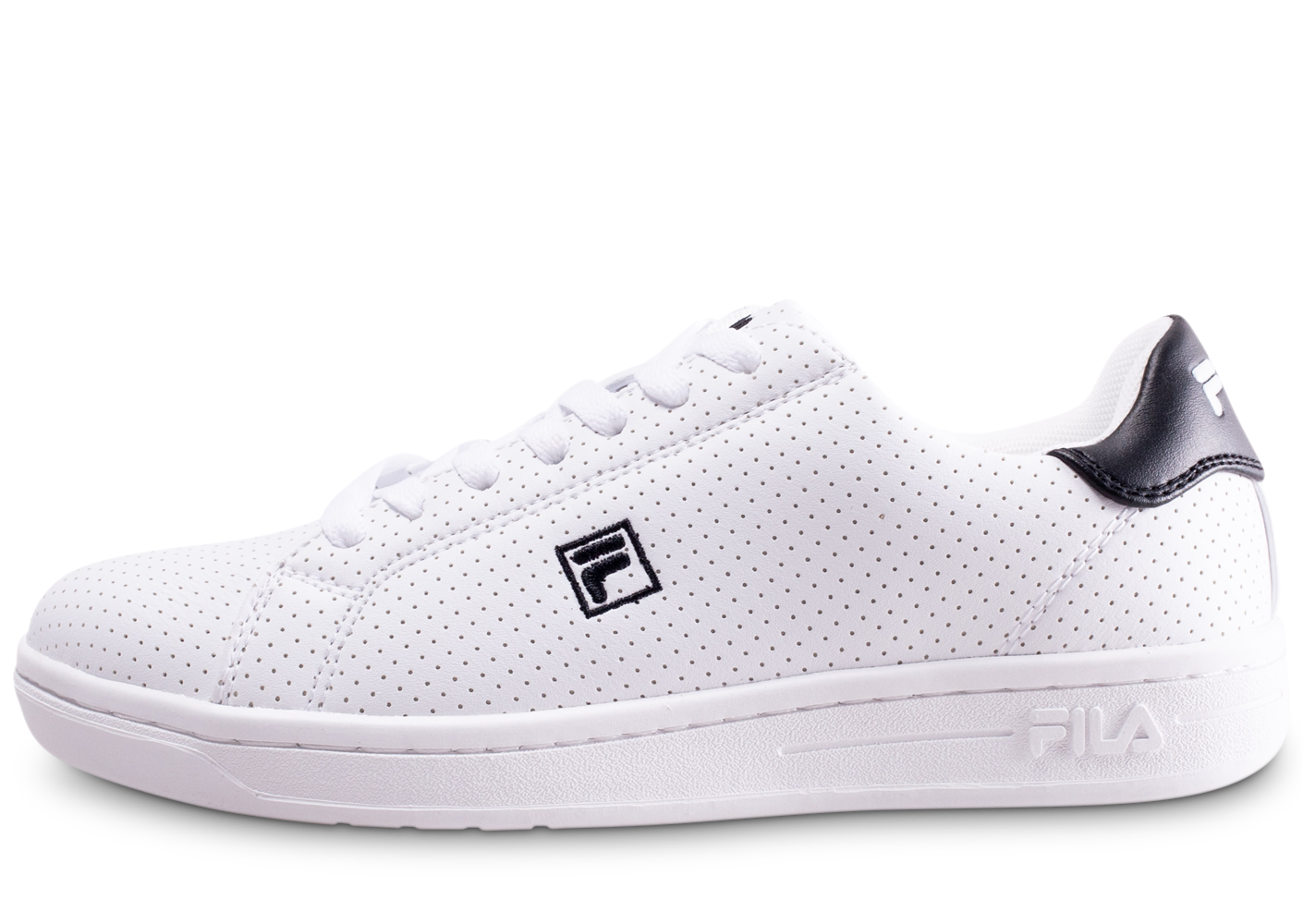 Fila Enfant Crosscourt Blanc Et Noir Junior Baskets