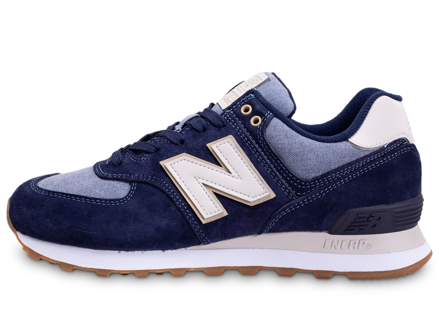 New balance homme ml574snj bleu baskets