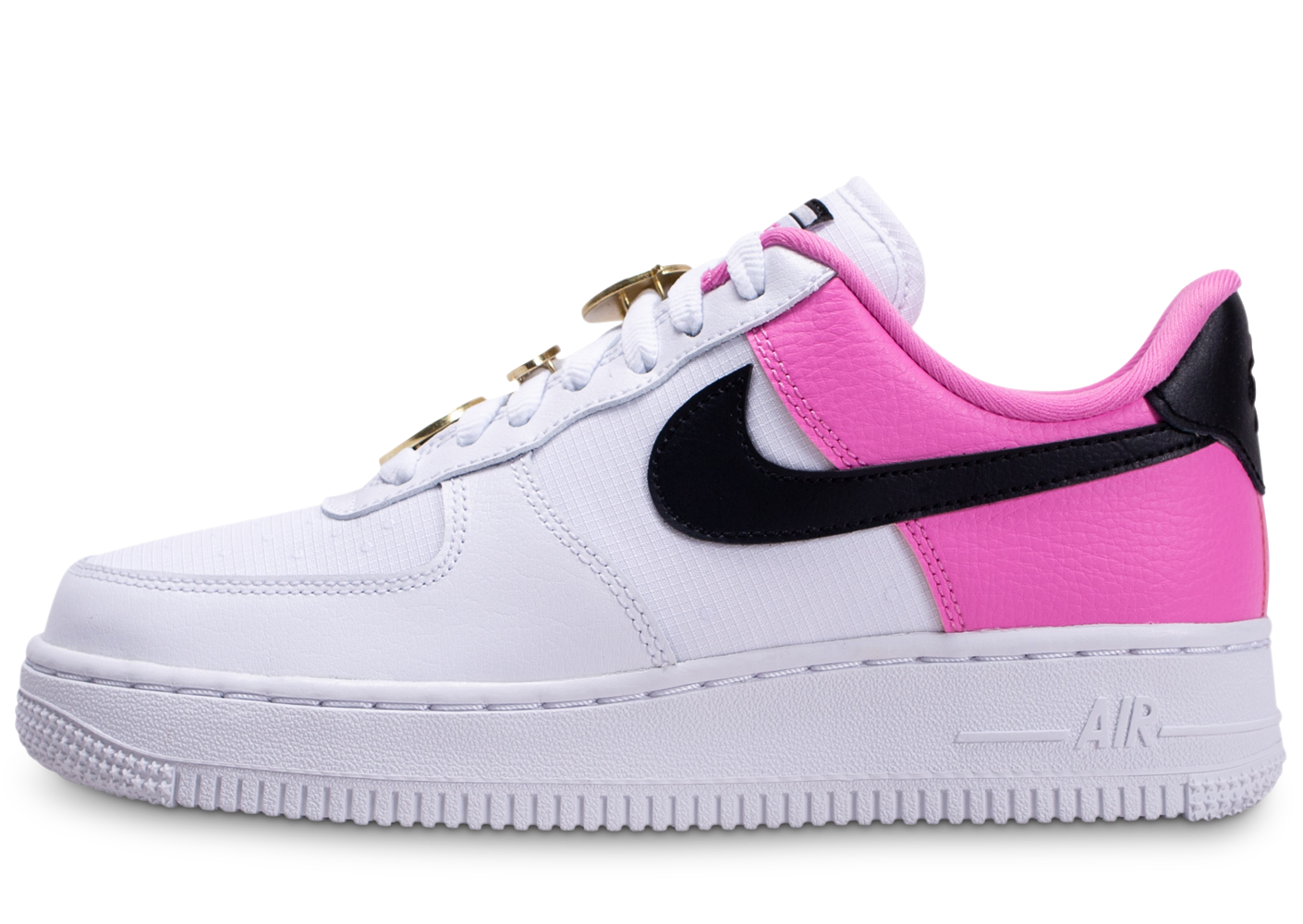 Nike air force 1'07 blanc rose femme baskets