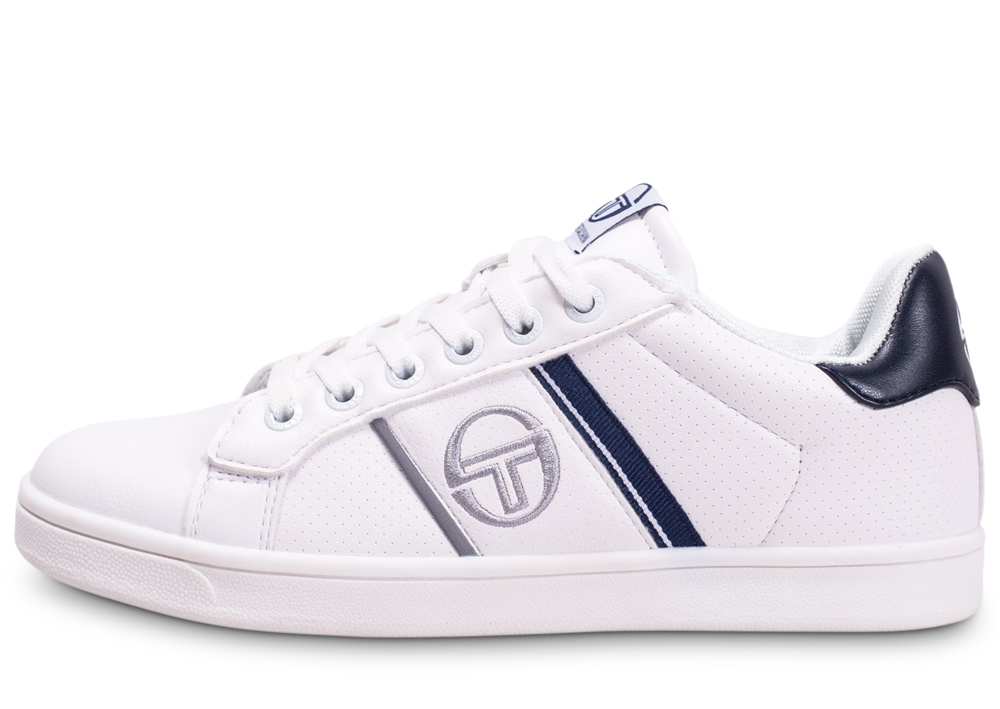 Sergio Tacchini Enfant Parigi Blanche Et Bleue Marine Junior Baskets