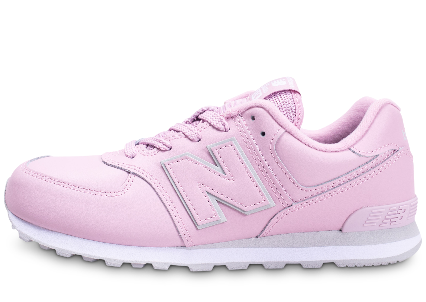 New balance enfant 574 rose et blanche baskets