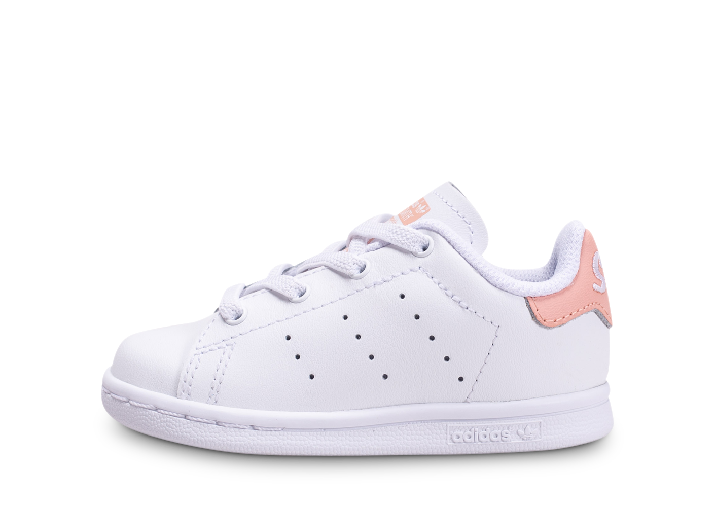 Tennis adidas stan smith blanche et rose bébé