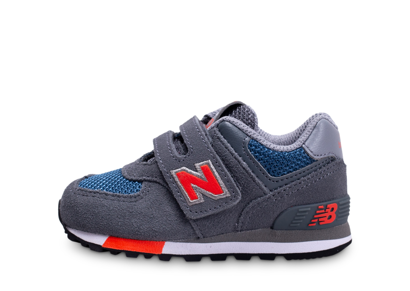 New balance iv574nfo gris et orange bébé baskets