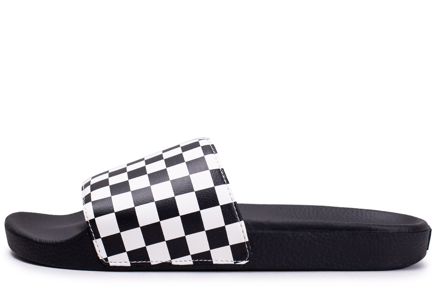 Sandales Checkerboard Noires Et Blanches
