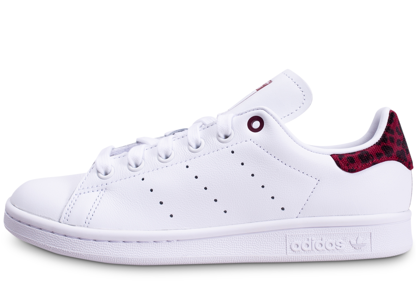 Adidas femme stan smith blanche et rouge...
