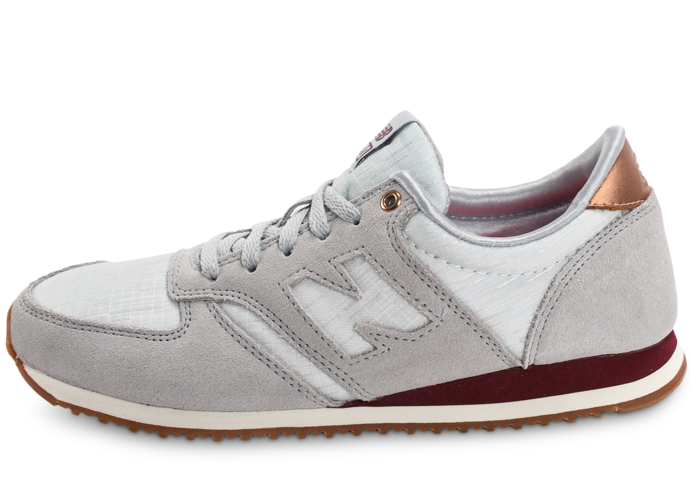 New Balance Wl420scb Beige Et Bordeaux Baskets/Running Femme