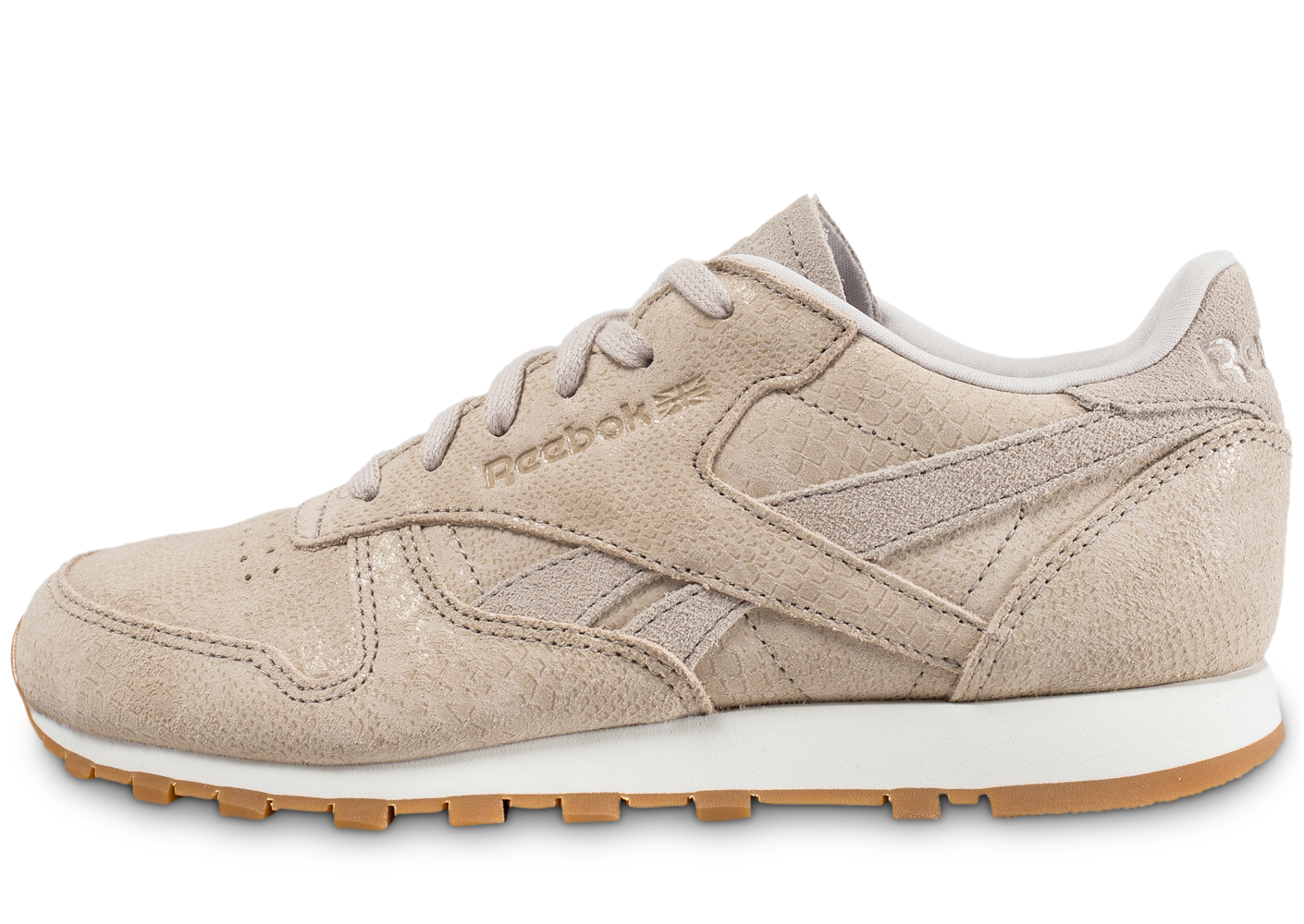 Reebok Femme Classic Leather Clean Exotics Beige Rétro-Running