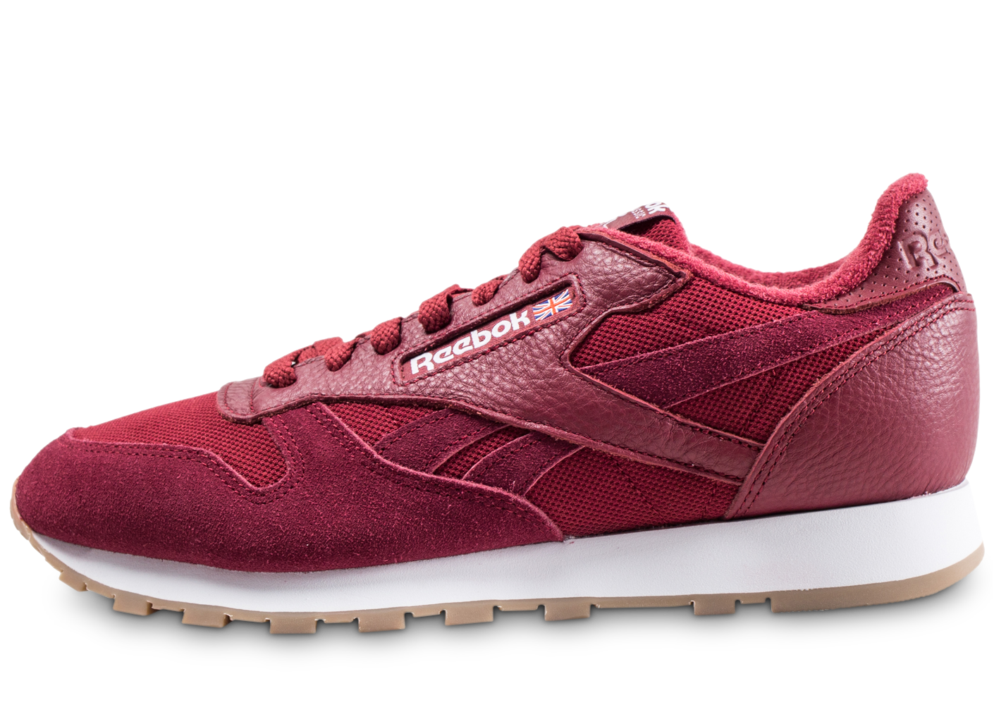 Reebok Homme Classic Leather Essential Rouge Baskets