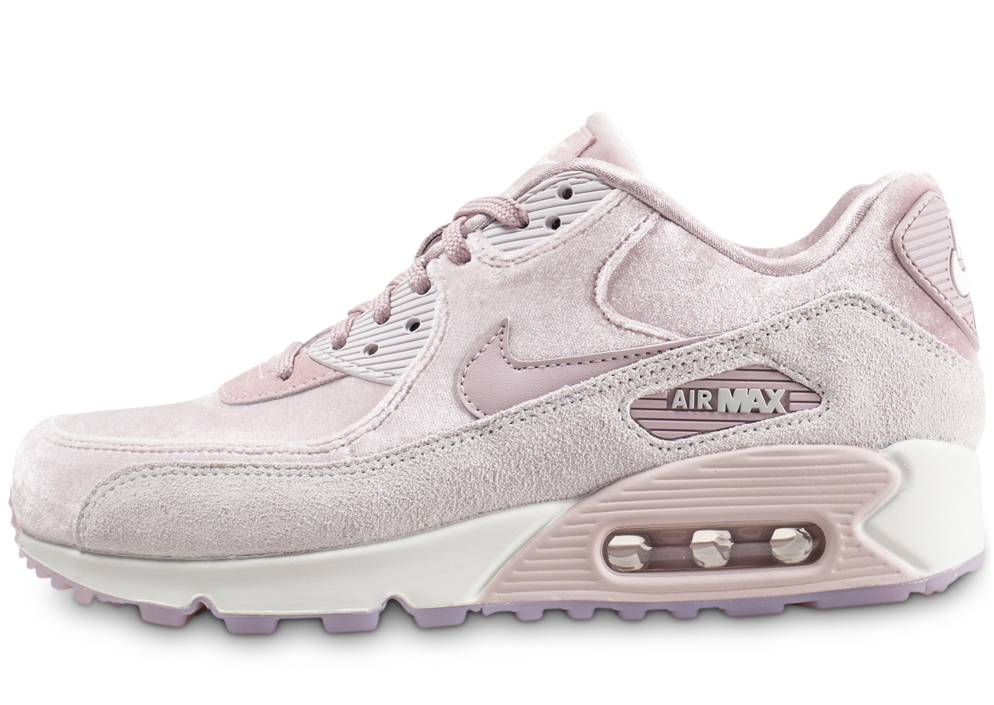 Nike Femme Air Max 90 Velours Rose Baskets