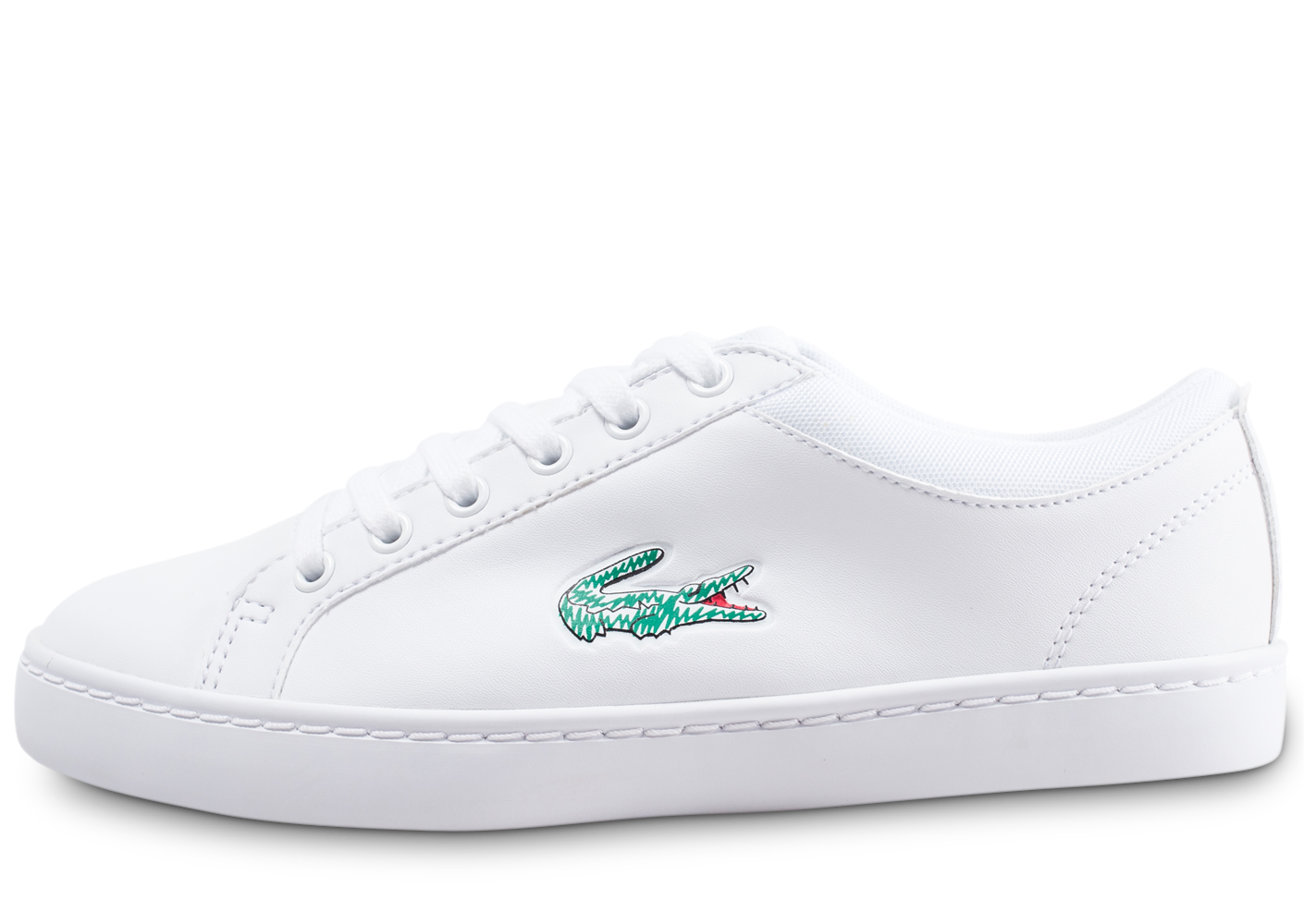 Lacoste Enfant Straightset Junior Blanche Baskets