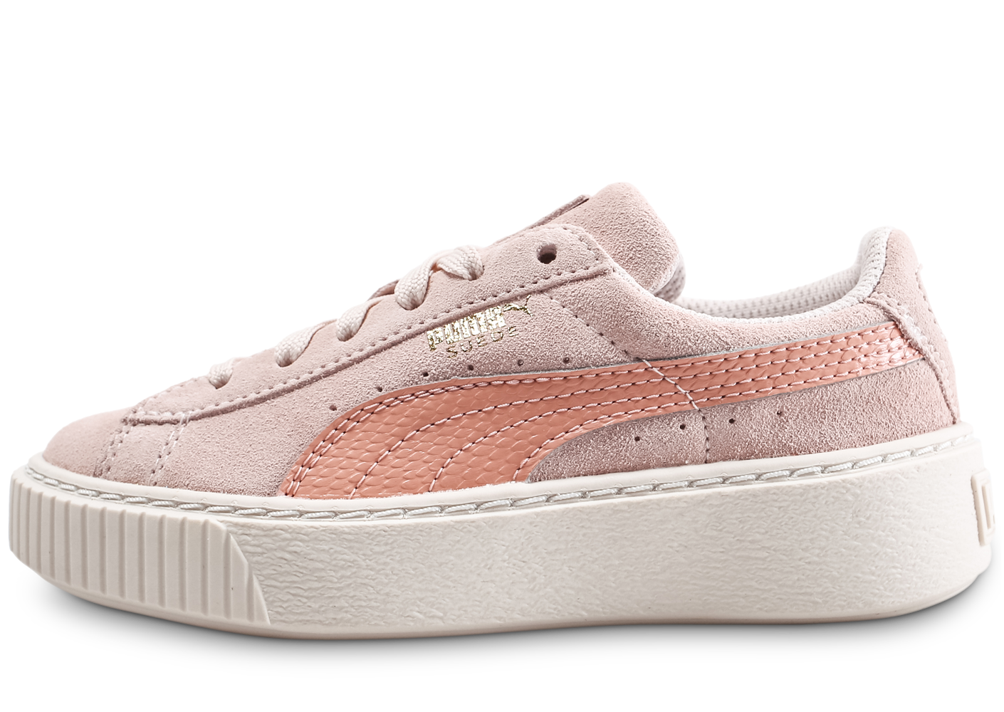 Puma Suede Platform Enfant Rose Baskets