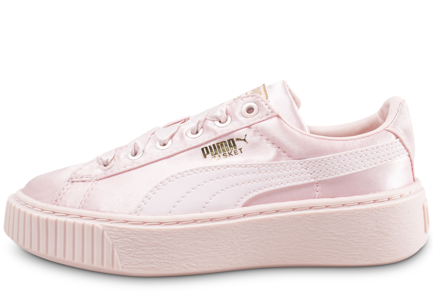 Puma Basket Platform Tween Enfant Satin Rose Baskets