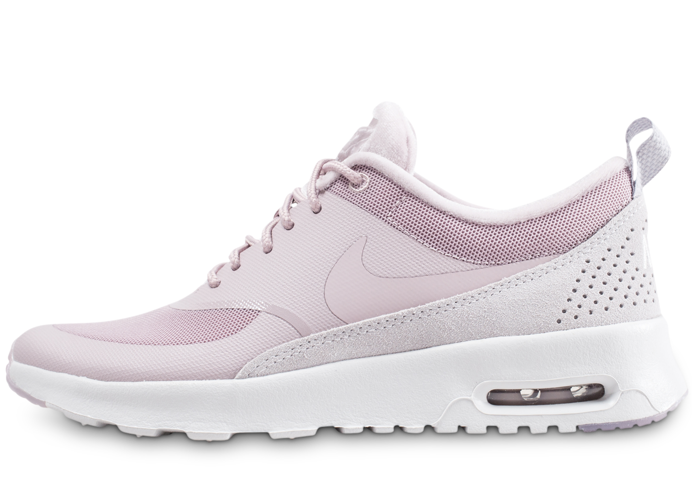 Nike Femme Air Max Thea Lx Rose Et Blanche Baskets