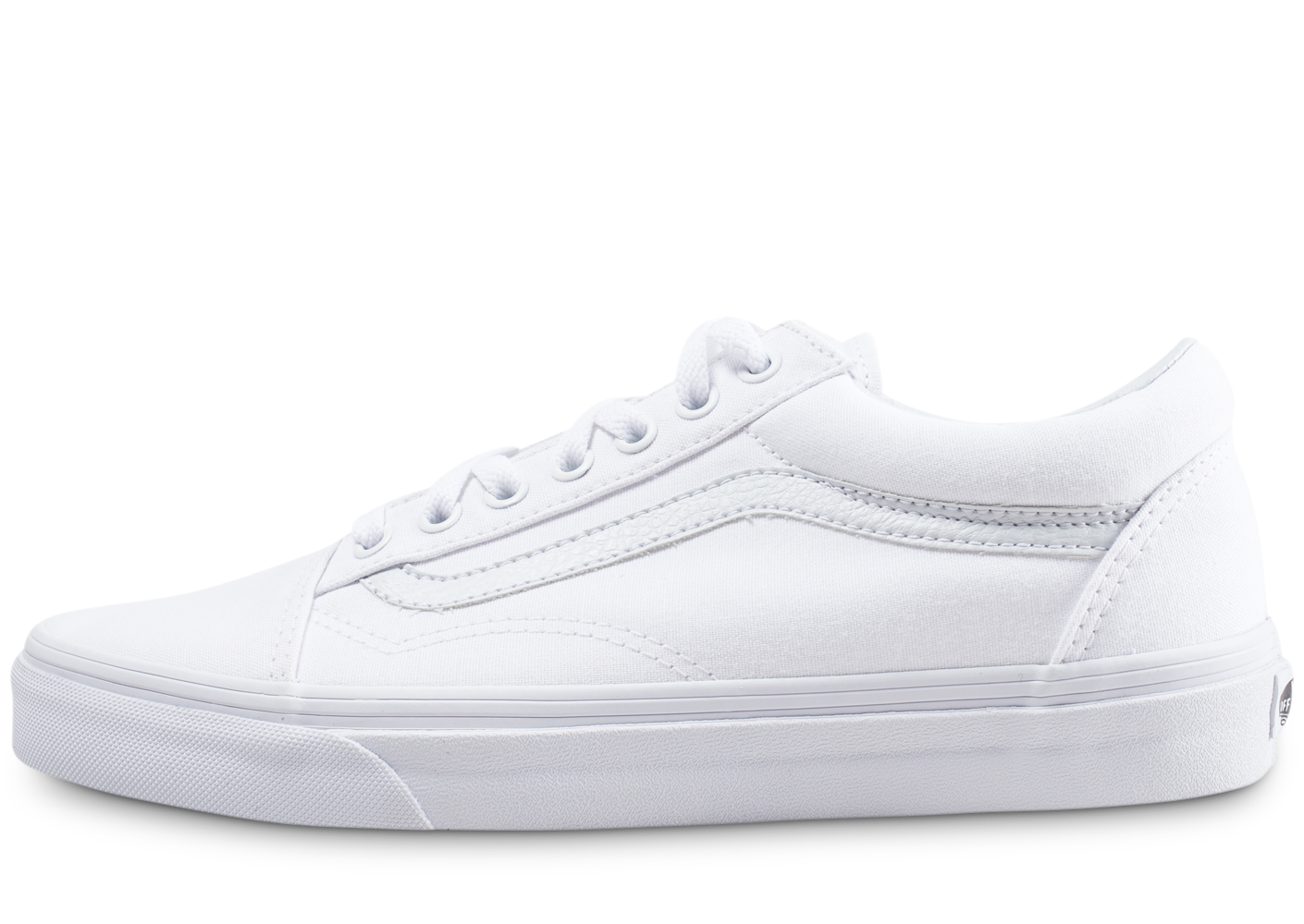 Vans Homme Old Skool Blanc Baskets