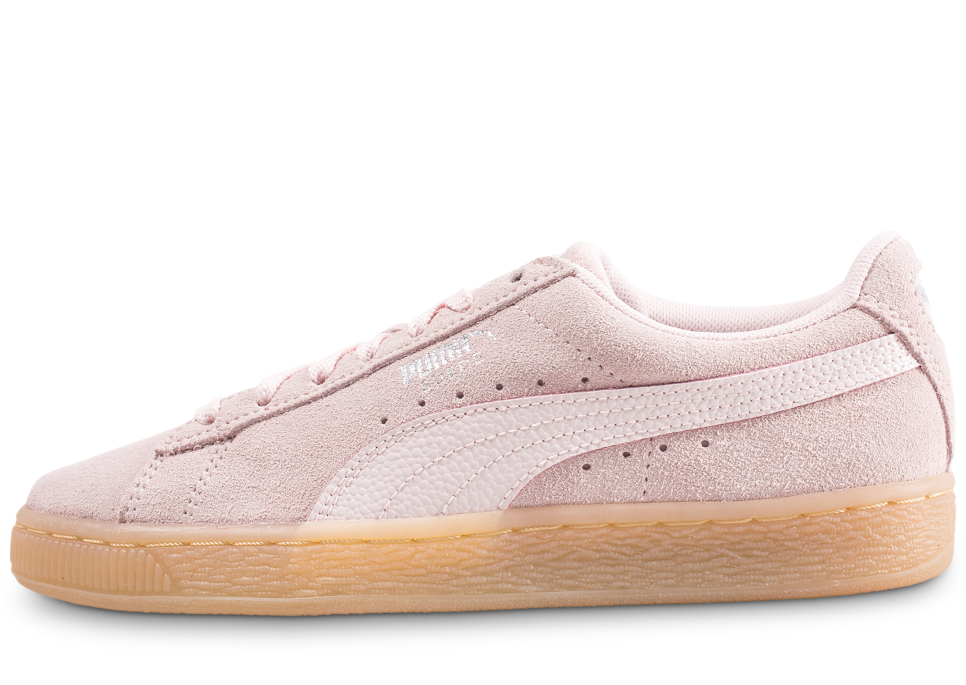 Puma femme suede classic bubble rose baskets