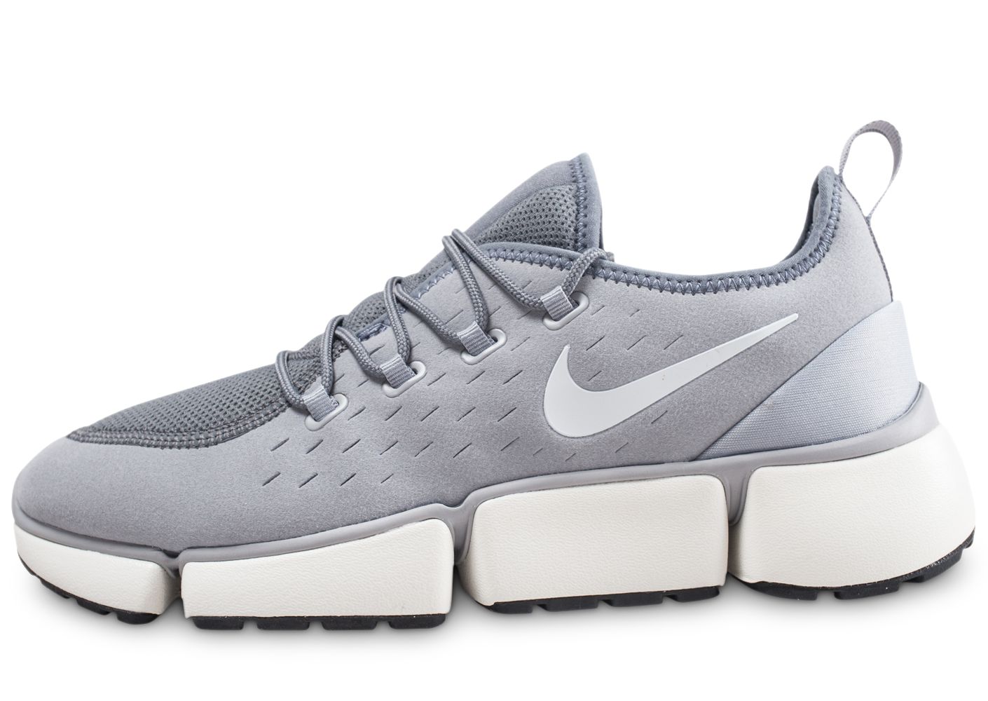 Nike Homme Pocket Fly Dm Gris Et Blanc Baskets