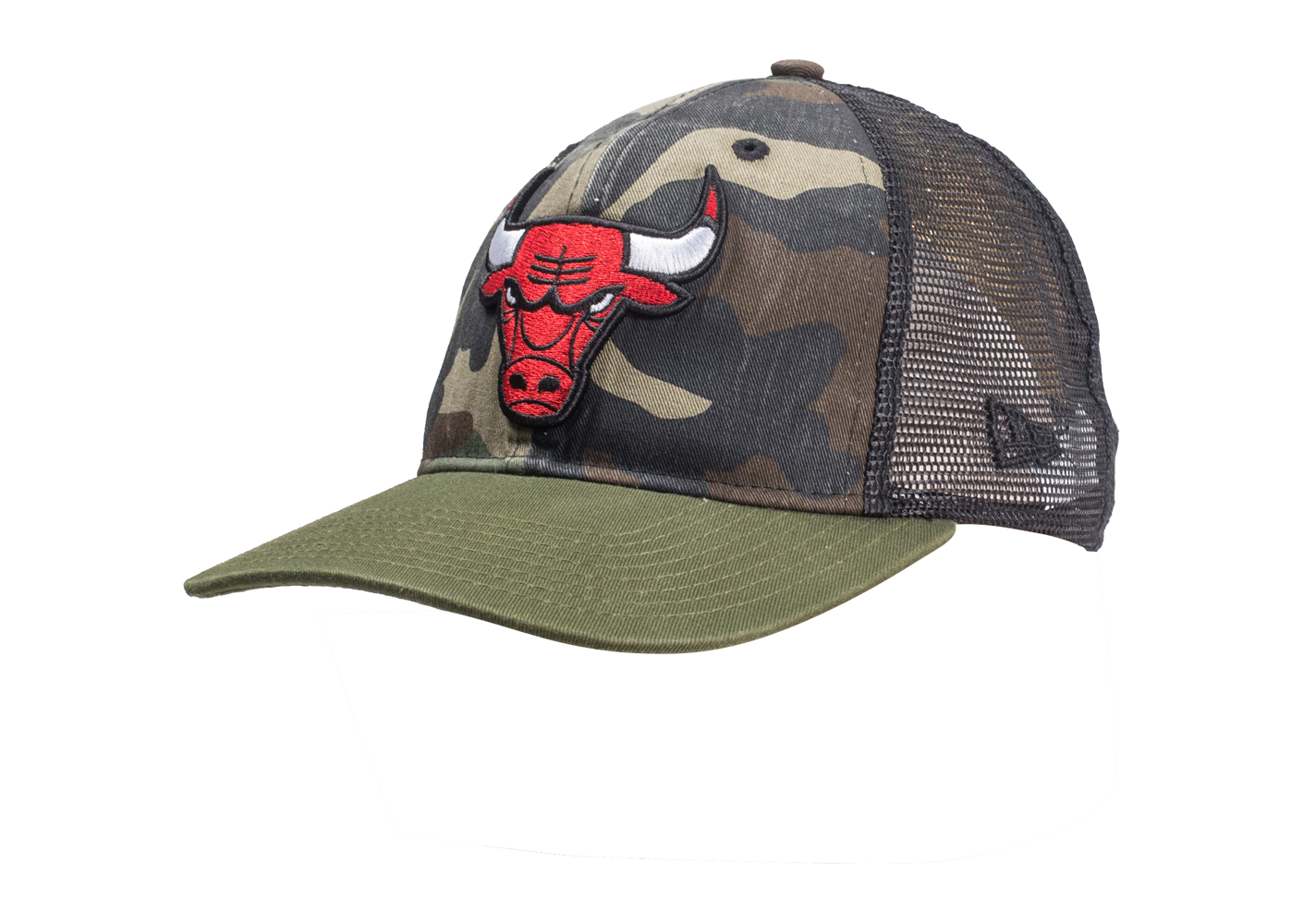 New Era Homme Casquette 9/50 Trucker Chicago Bulls Washed Camo
