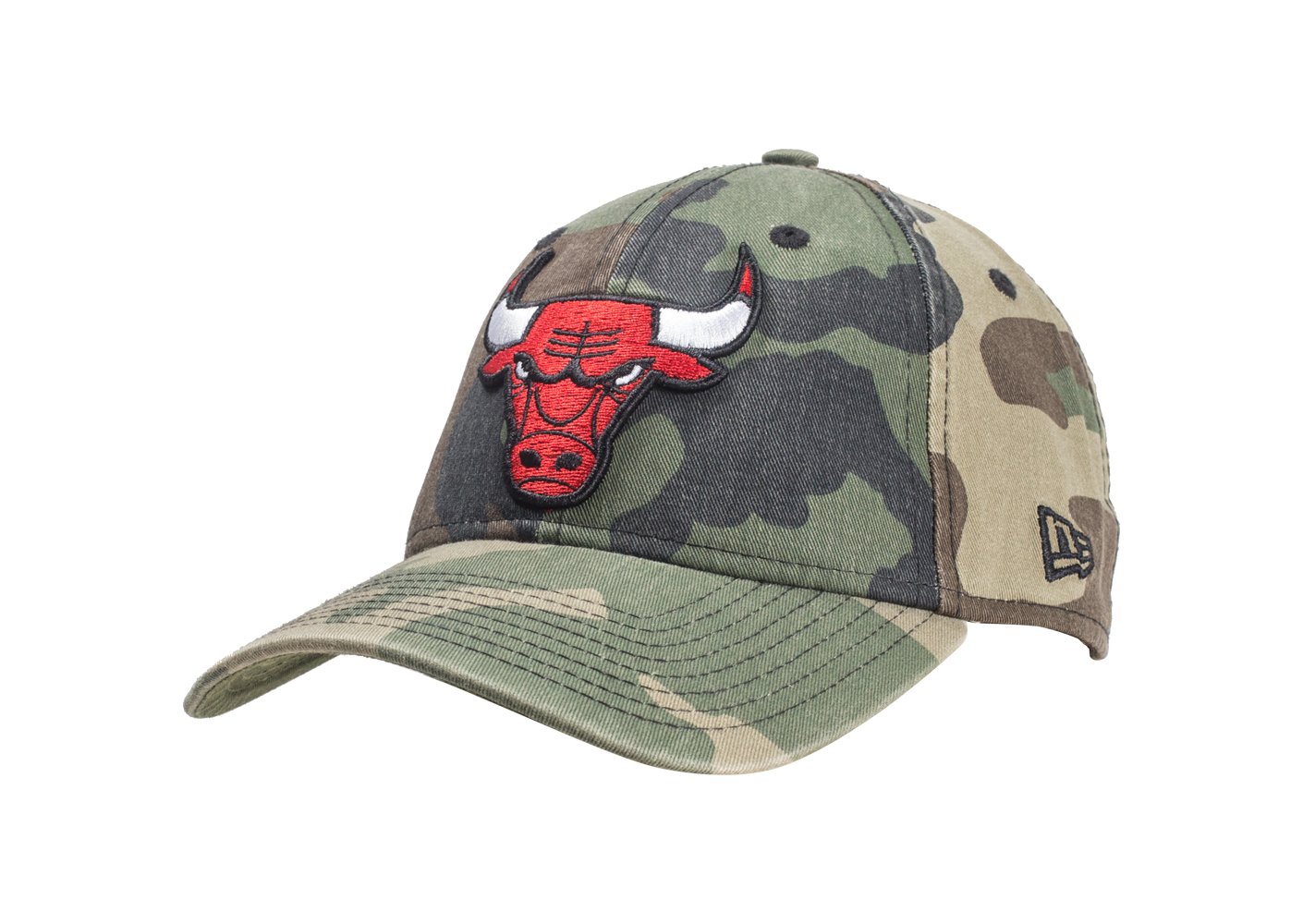 New Era Homme Casquette 9/40 Washed Chicago Bulls