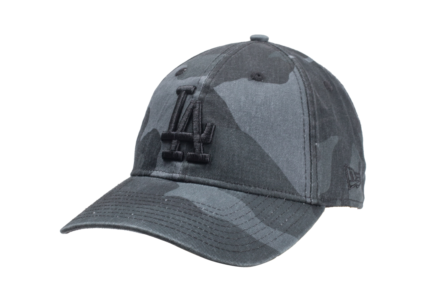 New Era Homme Casquette 9/40 Washed Camouflage Noire