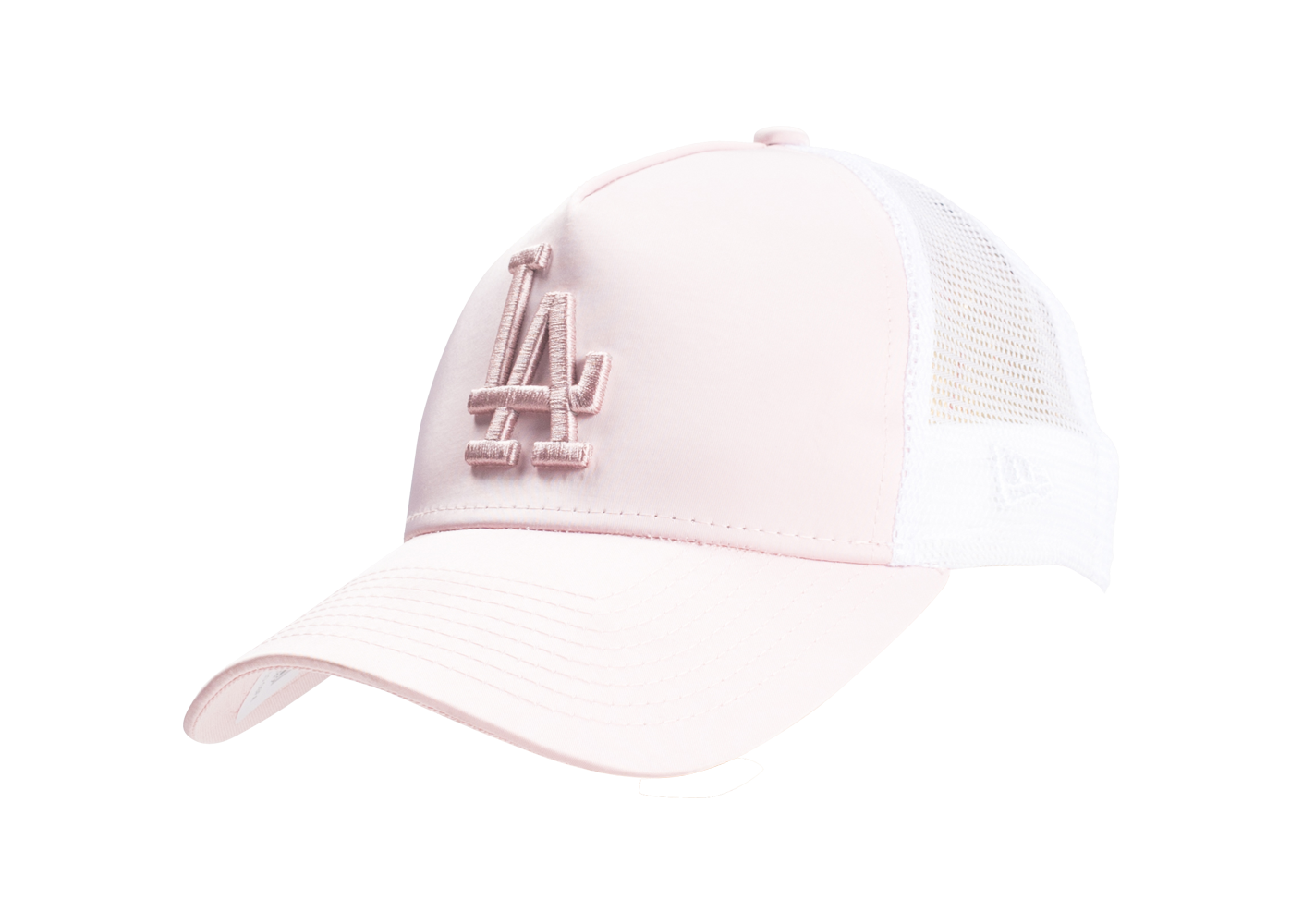 New Era Femme Casquette 9/40 Trucker Satinée League Los Angeles Rose