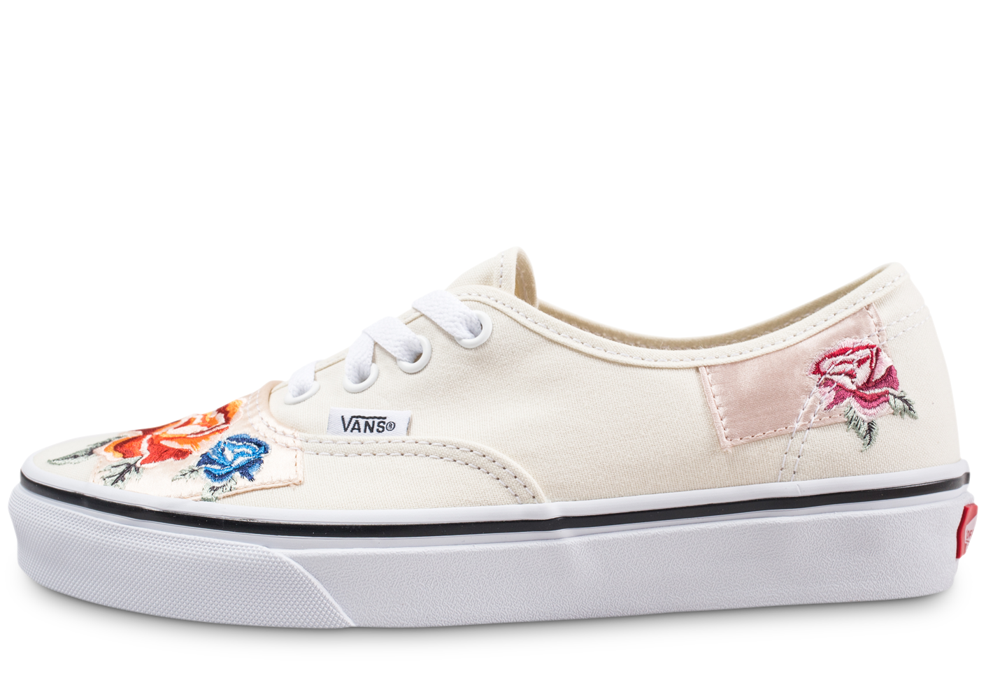 Vans Authentic Patchwork Satin Beige Femme Skate
