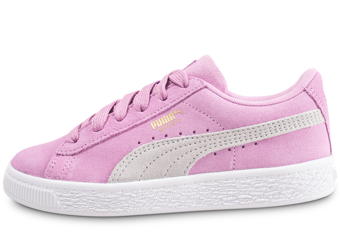 Puma suede classic rose enfant baskets