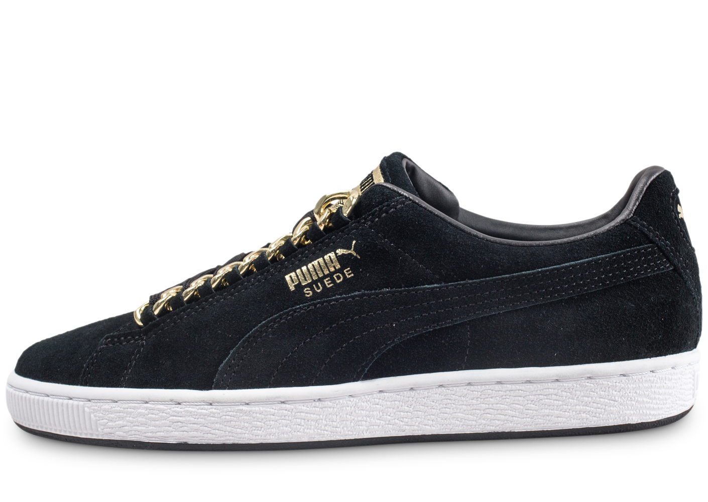 Puma homme suede classic x chains gold baskets