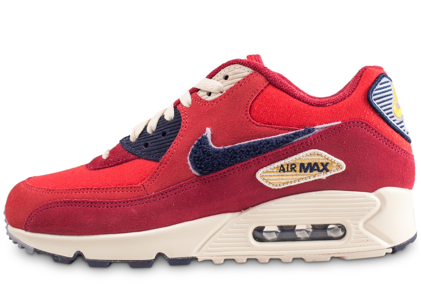 promo code 28230 22a83 Nike homme air max 90 premium se rouge baskets
