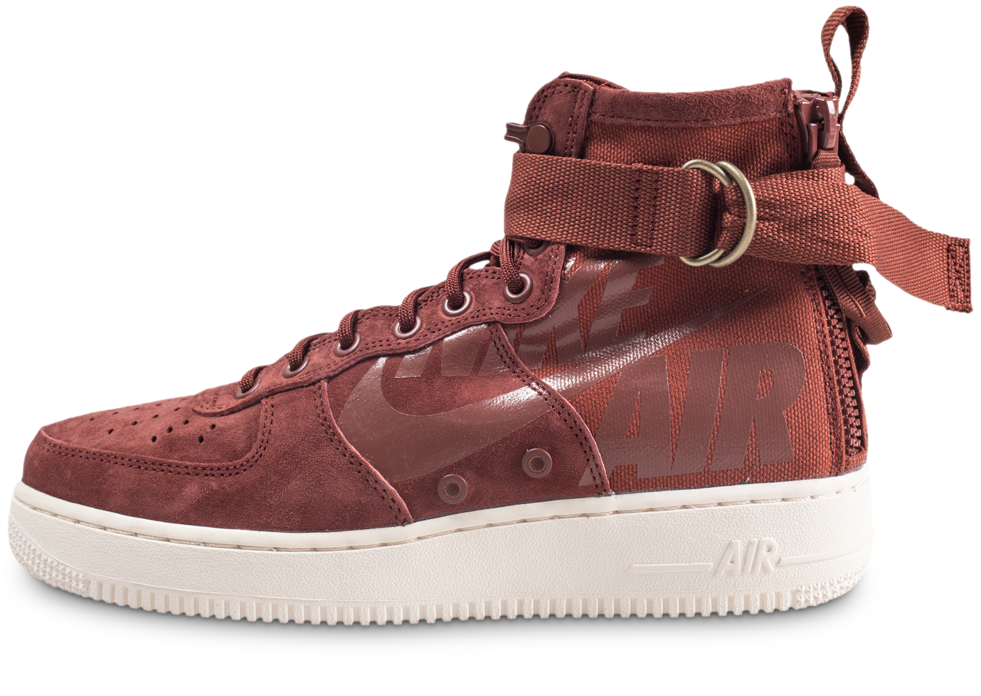 newest 2c8db 36c74 Nike homme sf air force 1 mid marron baskets