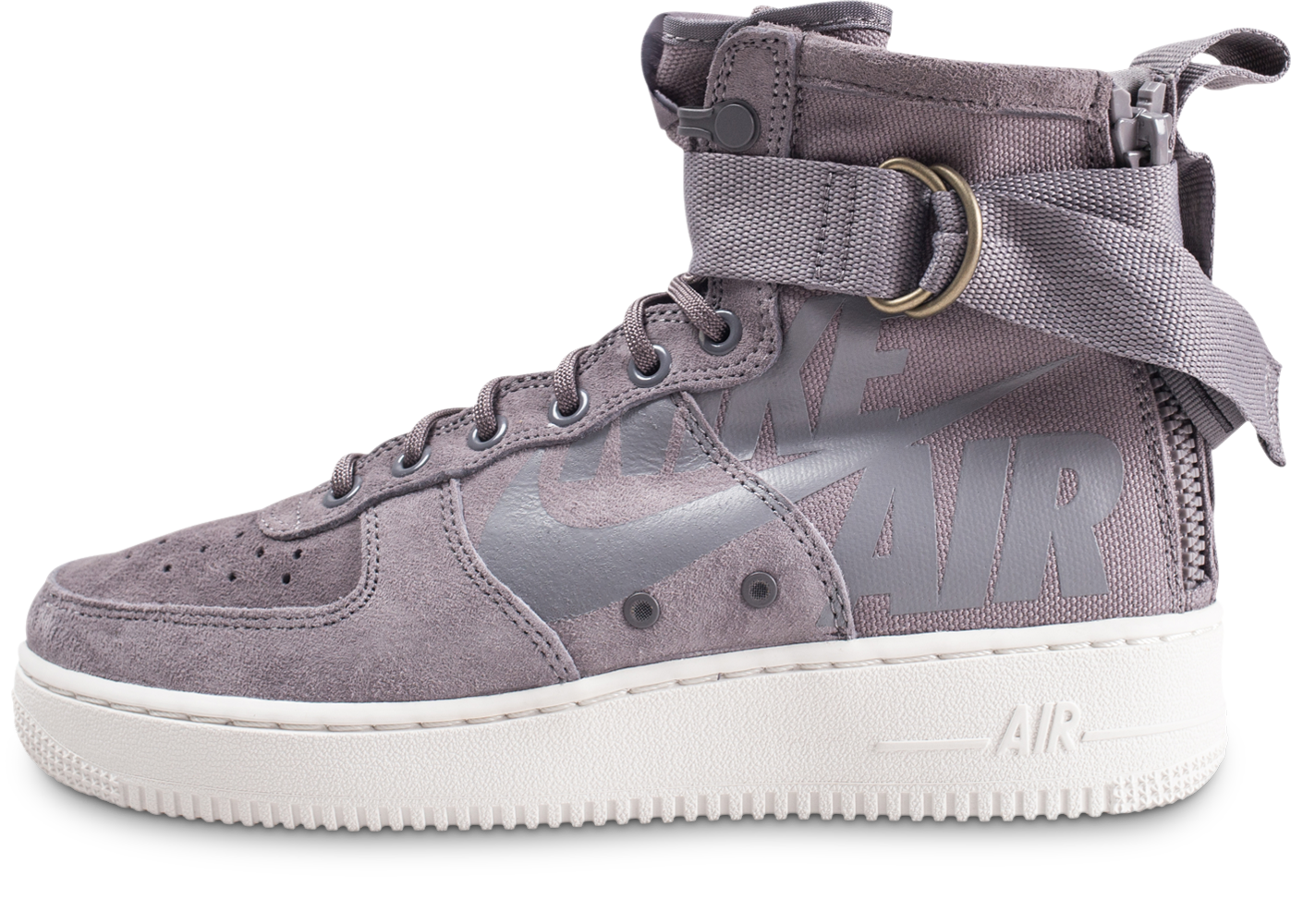 hot sale online a04b9 83804 Nike homme sf air force 1 mid grise baskets