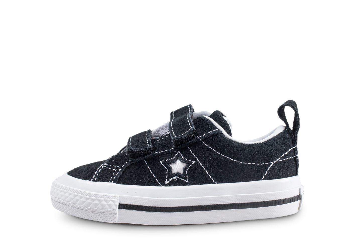 the best attitude 47909 8774f Converse One Star 2v Ox Noire Et Blanche Bébé Baskets Converse