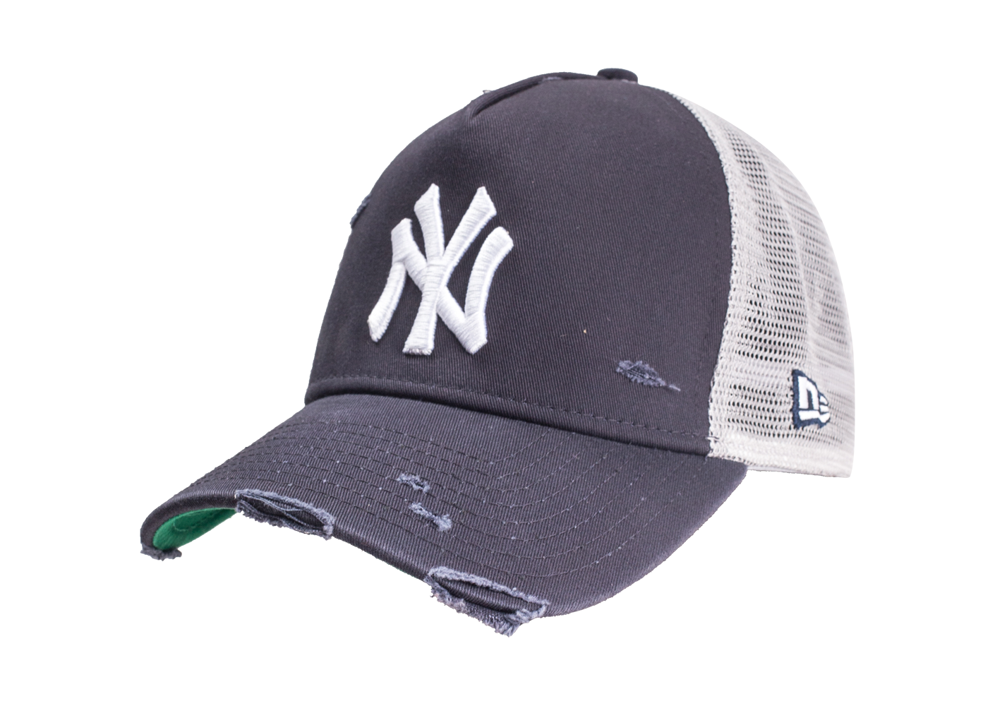 New Era Homme Casquette Distress Trucker Noire League New York