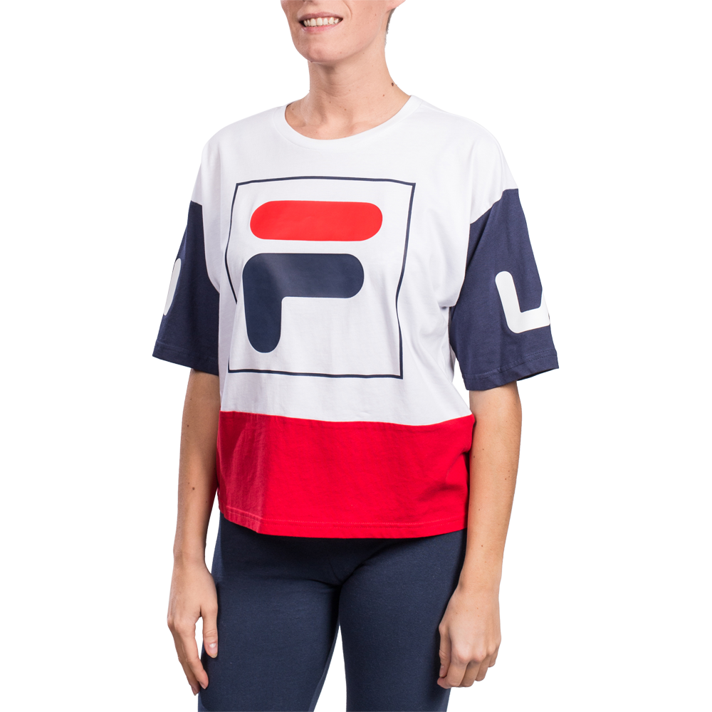 Fila Femme T-shirt Late Cropped Blanc Femme