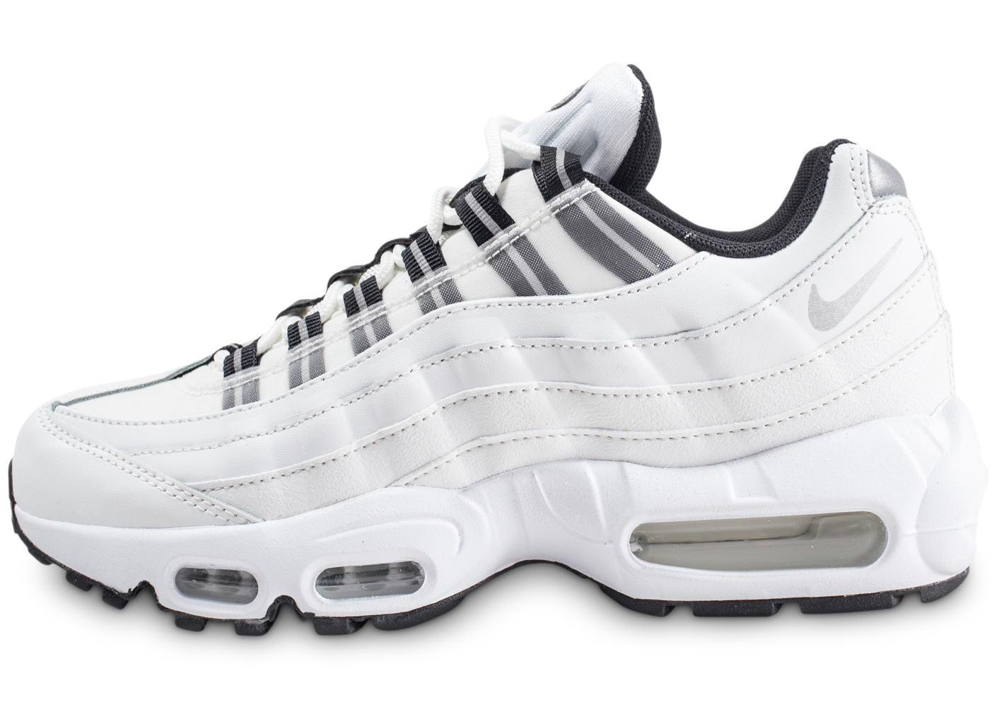 best authentic cc76f e5698 Nike air max 95 blanche et argent femme baskets