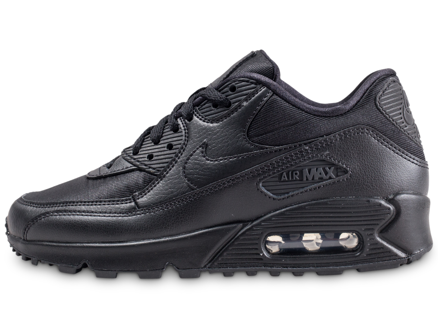 sports shoes 6f5fc 4ede4 Nike air max 90 triple noir femme baskets