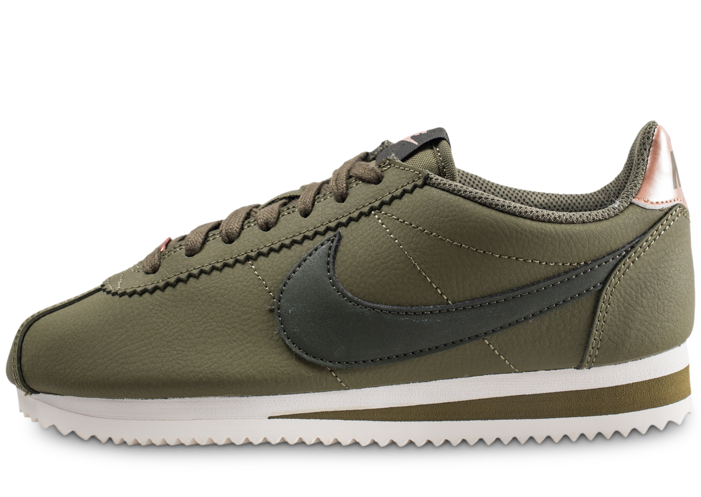 promo code 4012a 14332 Nike classic cortez leather kaki femme baskets