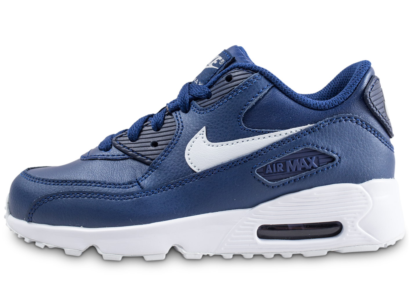 Nike Air Max 90 Leather Bleue Enfant Baskets