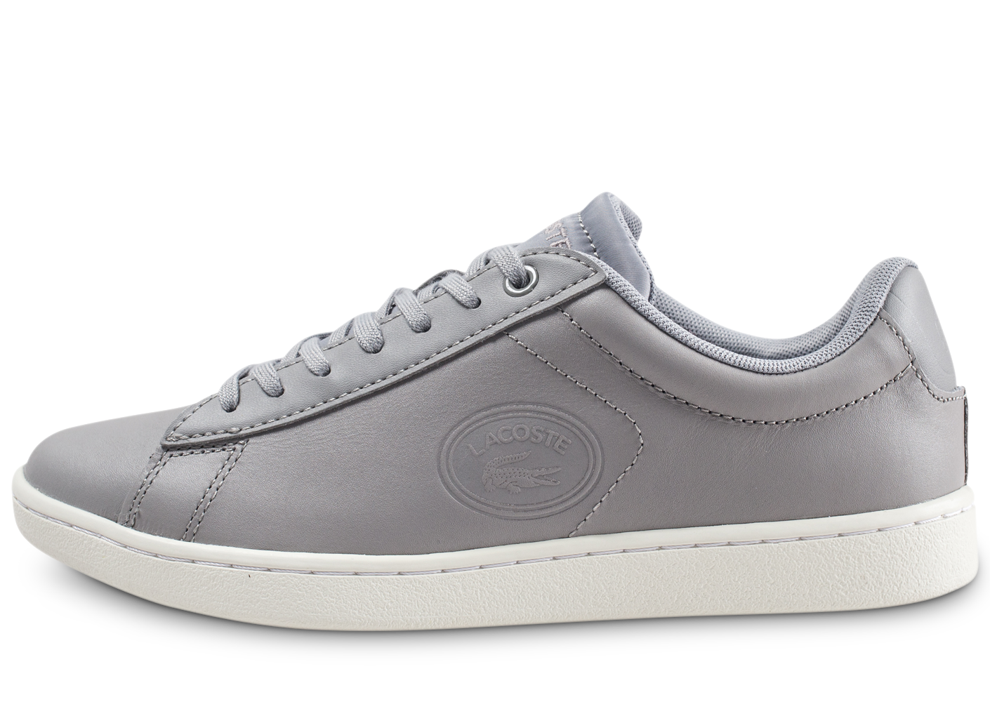 Lacoste Carnaby Evo Grise Et Blanche Femme Baskets