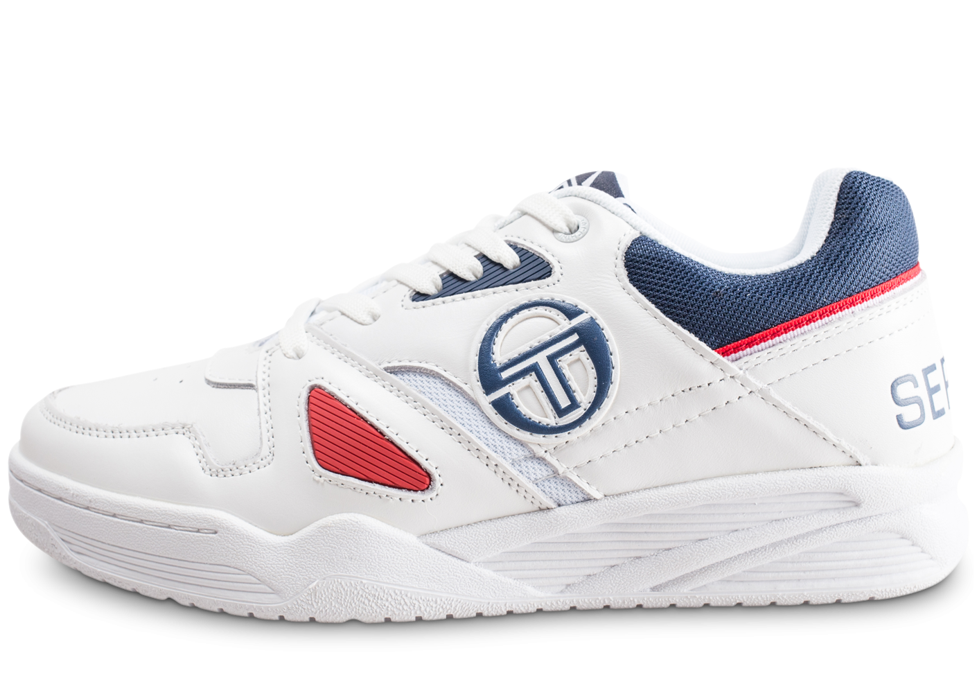 Sergio tacchini homme top play blanche et rouge...