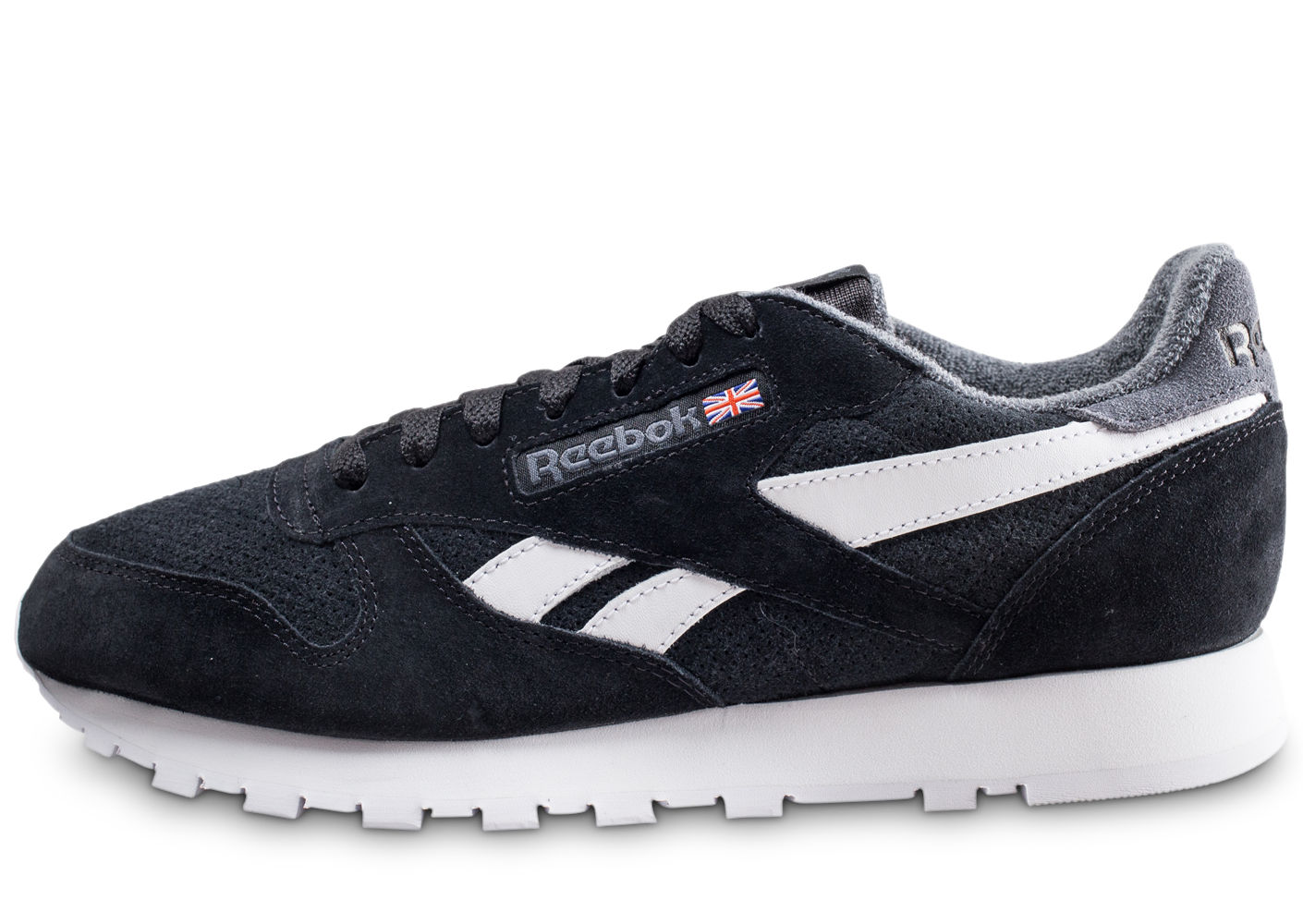 Reebok Homme Classic Leather Noire Baskets