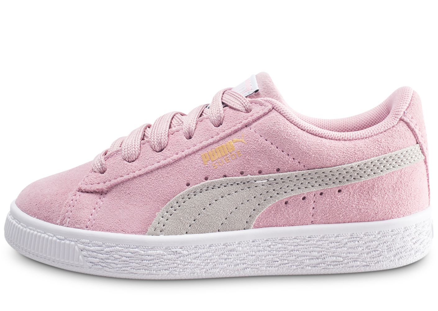 more photos 50507 d86b8 Puma suede classic rose et gris enfant baskets