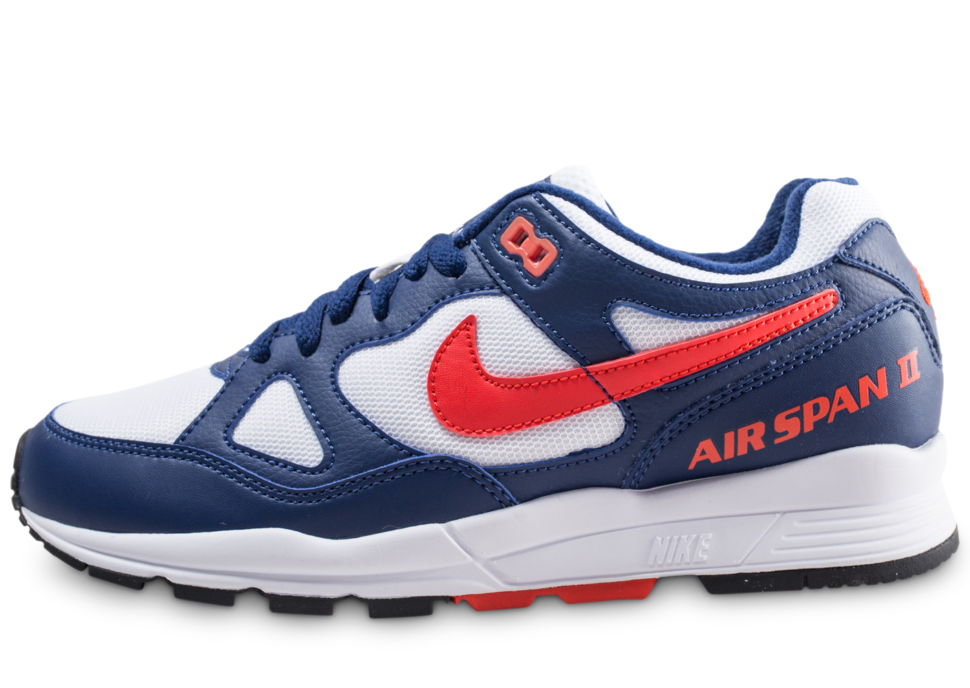 Nike Homme Air Span 2 Bleue Et Rouge Baskets