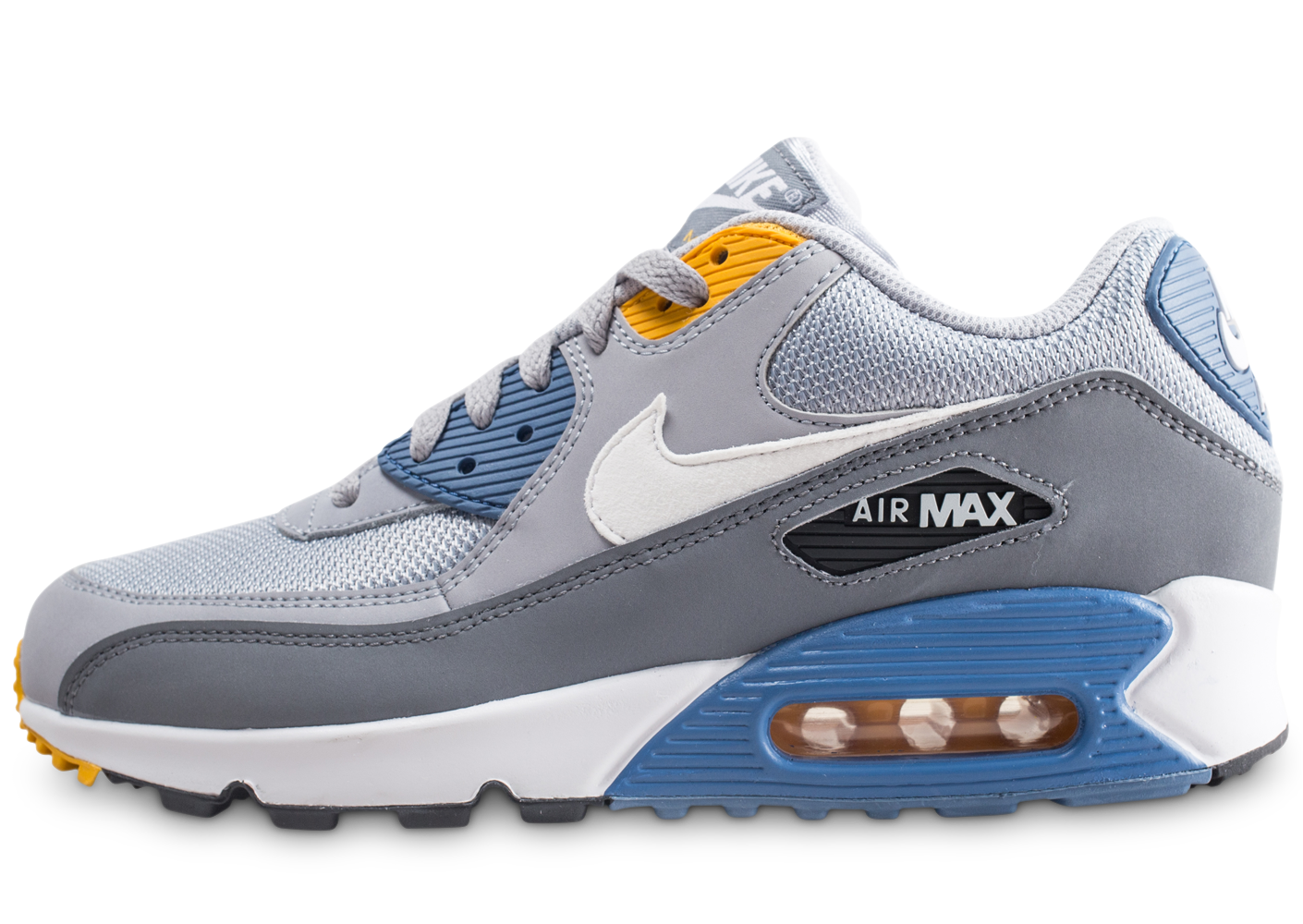 cheap for discount 3d31d 2eac8 Nike homme air max 90 essential grise et bleue.