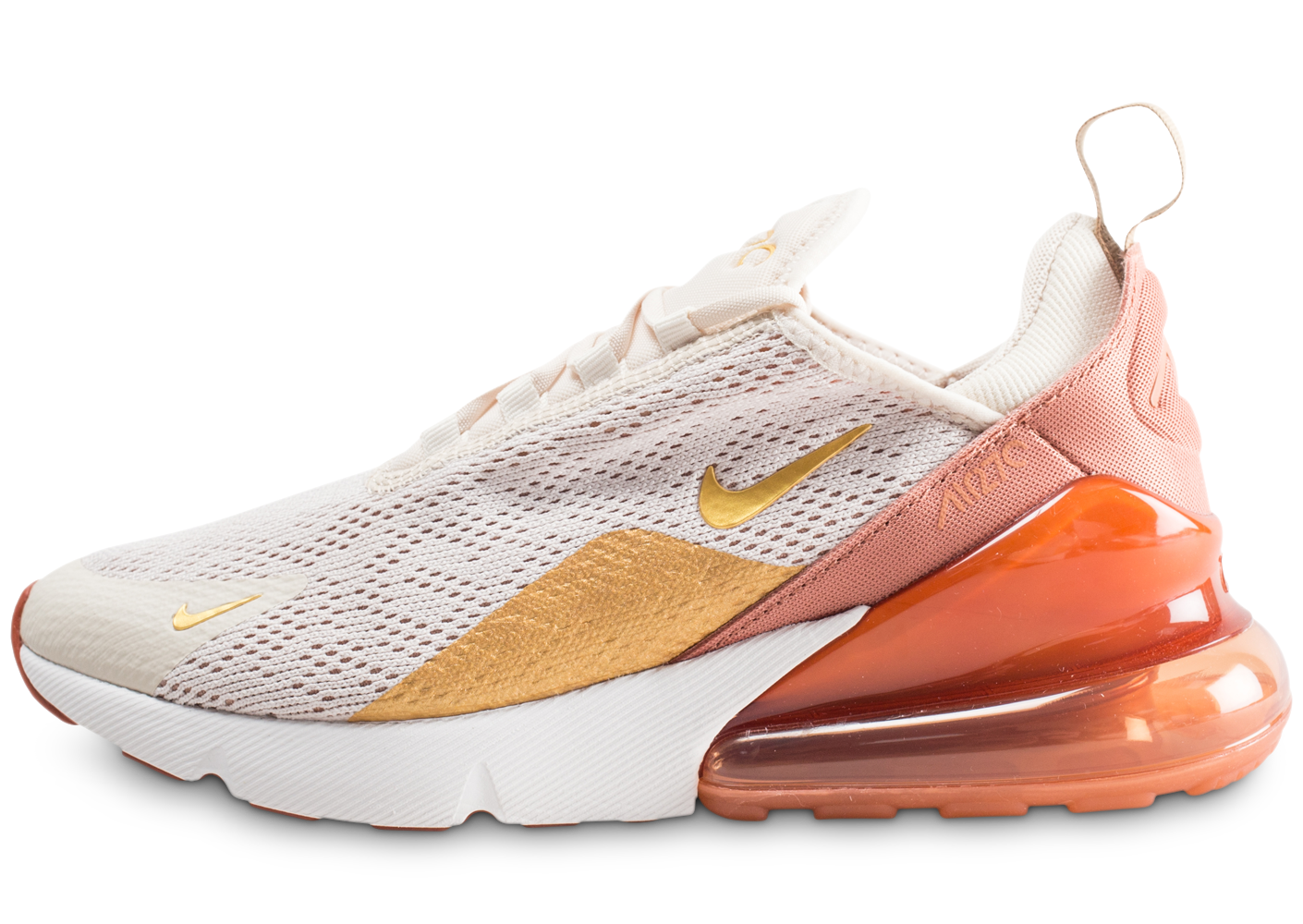 new product 6a921 402dc Nike air max 270 beige orange or femme baskets