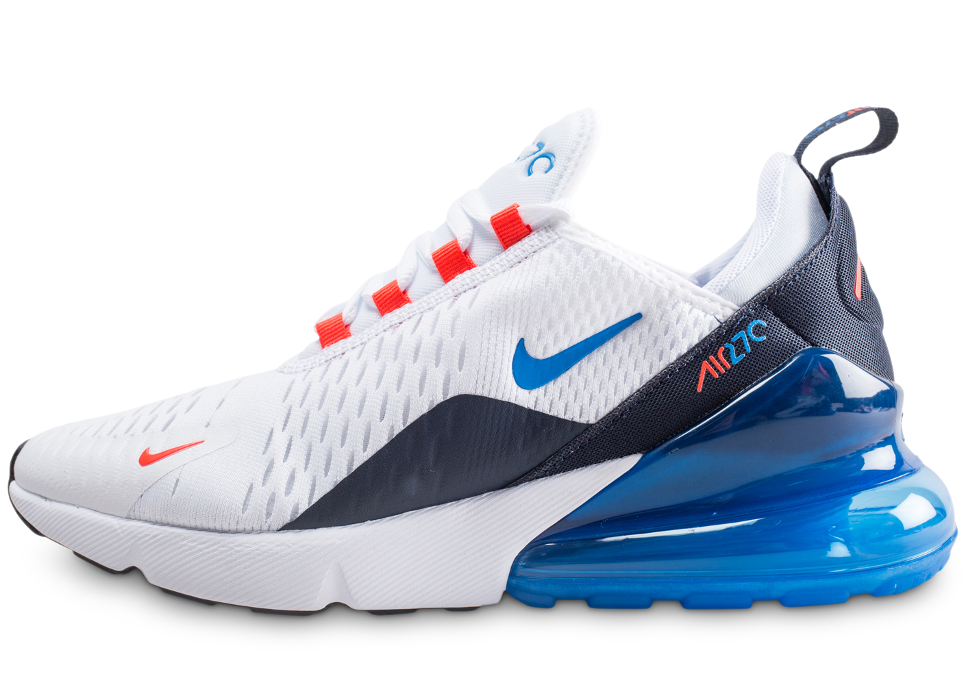 reputable site d90e4 cd539 Nike enfant air max 270 blanche et bleue junior.