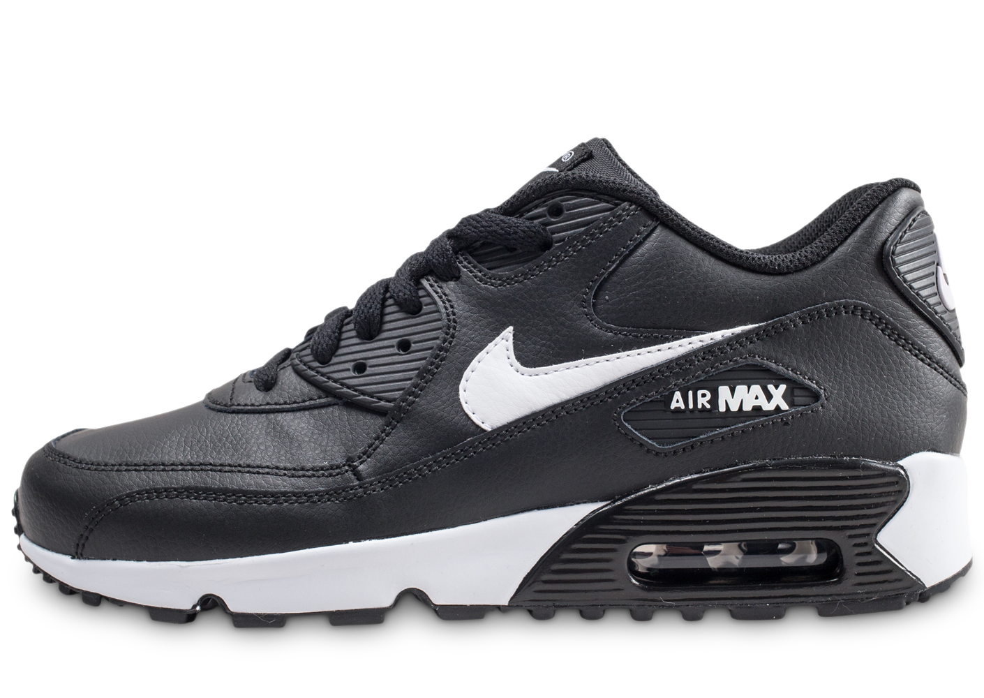 detailed look 87d82 b8835 Nike enfant air max 90 leather noire et blanche.