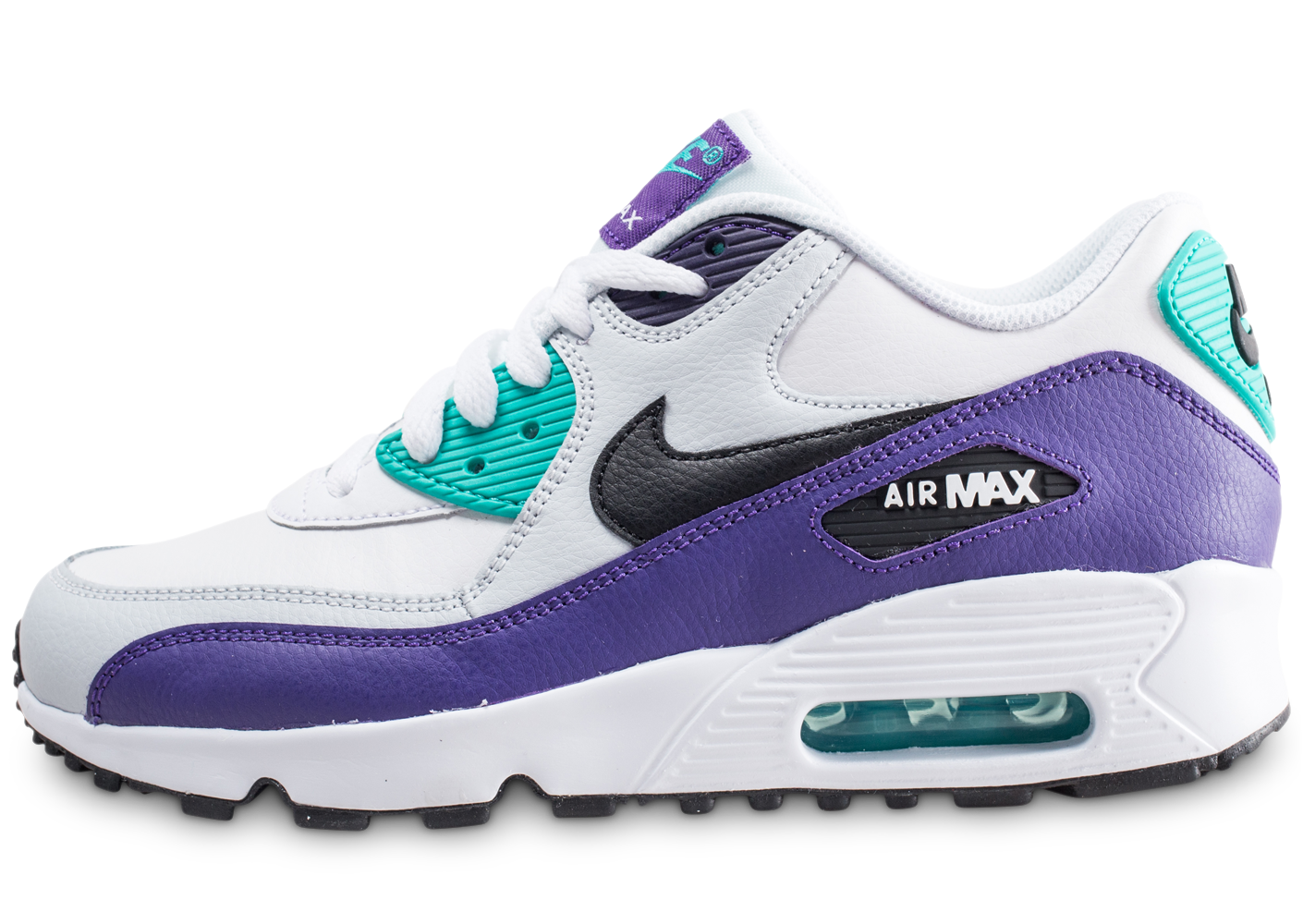 on sale aff10 8e134 Nike enfant air max 90 leather vert et violet.